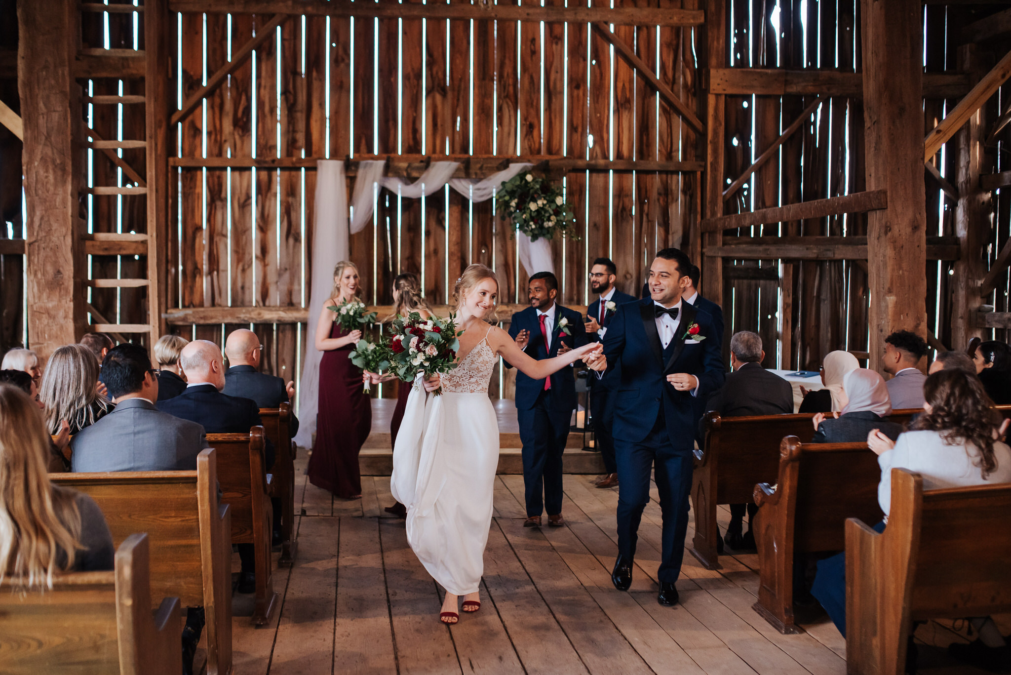 Waterstone Estate & Farms Wedding - newlyweds